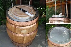 Oak Barrel Carving Station